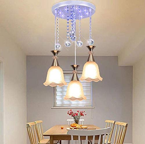 Restaurant Chandelier 3-Head dimming Remote Control Personalized Dining Room Light bar Bedroom Dining Room lamp Simple Modern Aisle Dining Pendant lamp
