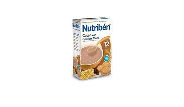 Nutribén - Papilla Cacao con Galletas María Nutribén 600 gr: Amazon.es: Bebé