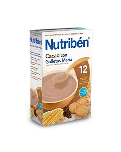 Nutribén - Papilla Cacao con Galletas María Nutribén 600 gr