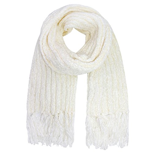 White Chenille Scarf - Charter Club Women's Chenille Shaker Scarf,One Size (Ivory)