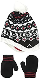 Carters Baby-Girls Patterned Peruvian Hat and Mitten Set, Black, 0-9 Months