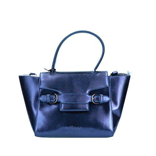 LE PANDORINE - Bolso de asas para mujer azul blue metal