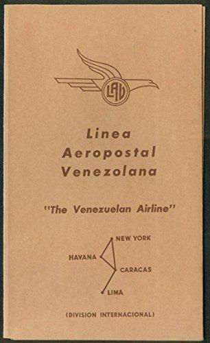 Aeropostale Wallet - LAV Línea Aeropostal Venezolana airline ticket wallet wrapper 1950s