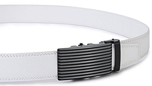 Bianco02 35mm Bulliant Cintura Automatico dimensioni Pelle Uomo Regolabili Per wZOXgZ8Tq