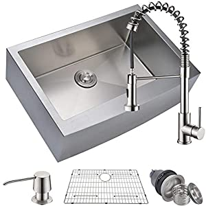 41dMxbVfetL._SS300_ 75+ Beautiful Stainless Steel Farmhouse Sinks For 2020