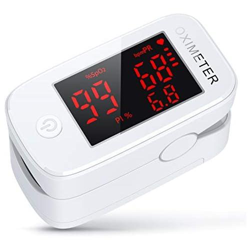 chollos oferta descuentos barato Oxímetro konjac Oxímetro dedo Oxímetro de Pulso Pulsioxímetro de dedo profesional Monitor de Oxígeno Portátil Monitor de Frecuencia Cardíaca para Adultos Niños