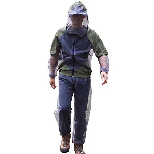 Lightweight Mesh Suit (A.B Crew Breathable Mesh Bug Jacket Pants Mitts Lightweight Mosquito Repellent Suit for Hiking Fishing Camping (X-Large))