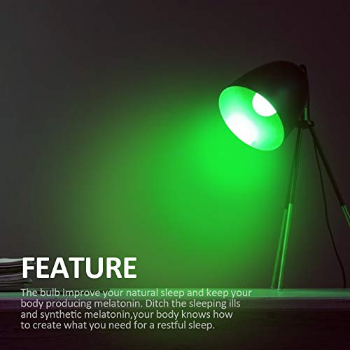 LED Green Light Bulb A19 5Watts with E26 Base 40w Equivalent Colored Light Bulbs for Wedding Halloween Christmas Party Bar Mood Ambiance Decor - 2 Pack