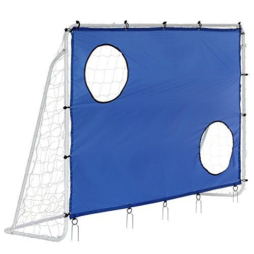 Songmics Fußballtor Maße 240x150x90cm Nets Portable Blau SZQ240