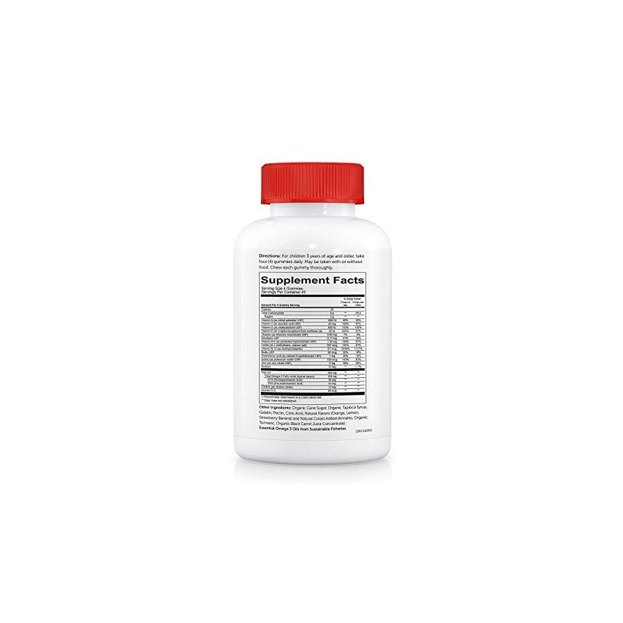 SmartyPants Daily Gummy Vitamins: Gluten Free, Multivitamin & Omega 3 Fish Oil
