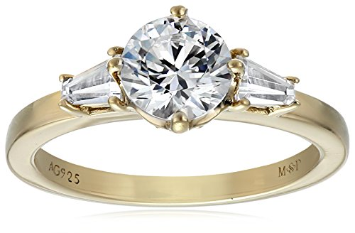 Yellow Gold 3 Stone Ring - 9