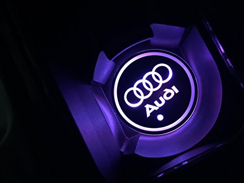 Car Logo Led Cup Pad Led Cup Coaster Usb Charging Mat