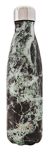 S'well Vacuum Insulated Stainless Steel Water Bottle, Double Wall, 17 oz, Baltic Green Marble