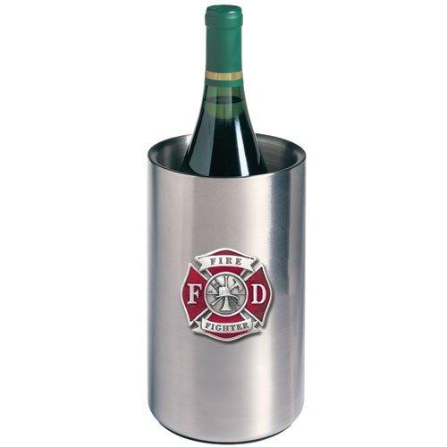 Firefighter Colored Logo Wine Chiller