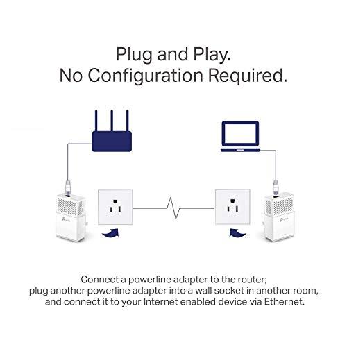 TP-Link AV1000 Powerline Ethernet Adapter - Gigabit Port, Plug&Play, Power Saving(TL-PA7010 KIT) by TP-LINK (Image #3)