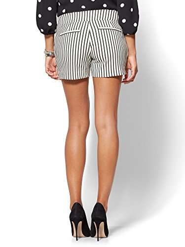 New-York-Co-Womens-7Th-Avenue-Pull-On-4-Short-Signature-Stripe