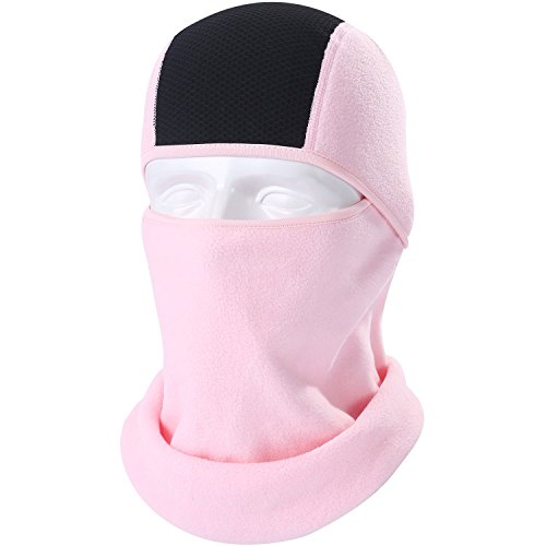 - WTACTFUL 1 Pack - Polar Fleece Neck Warmer Balaclava Face Mask Thermal Protection Wind Dust UV for Skiing Snowboarding Snowmobile Cycling Motorcycle Hunting Hiking Running Winter Activities Pink