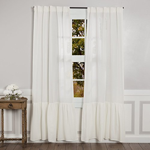 Sophia High Ruffle Panel Curtains, Set of 2, 84