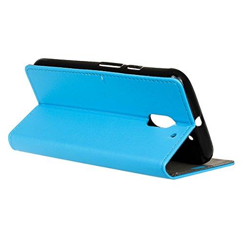 Funda Motorola Moto E3 Power Billetera Carcasa, Forhouse Lustroso Ligero Flip Prima PU Cuero Wallet Caso con [Kickstand][Ranuras para Tarjetas y Caja][Cierre Magnético] Delgado Fit Book Style Anti-Cho Azul