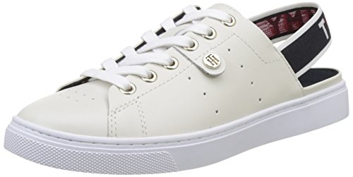 Tommy Hilfiger V1285enus 3a1, Zapatillas para Mujer Blanco (White 100)