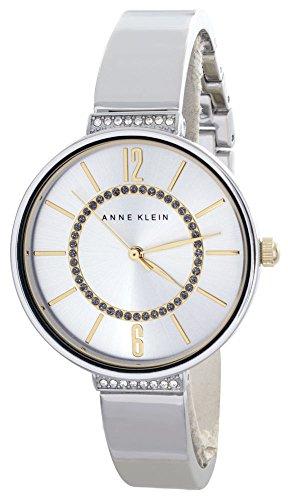 Anne Klein Silver Crystal Dial Bangle Bracelet Women's Quartz Watch AK/2585SVTT