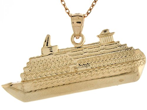 14k Real Gold Cruise Ship Travel Memory Charm Pendant by Jewelry Liquidation (Image #1)