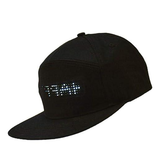 Sombrero con luz LED, weixinbuy Gorra dirigido con Pantalla de Luz ...