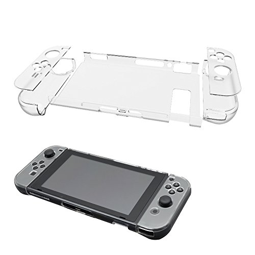 ElementDigital Nintendo Switch Case Protective Crystal Clear Ultra Hybrid Case Cover Protector for Nintendo Switch Joy Con