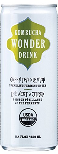 Kombucha Wonder Drink, Green Tea With Lemon Sparkling Fermented Tea