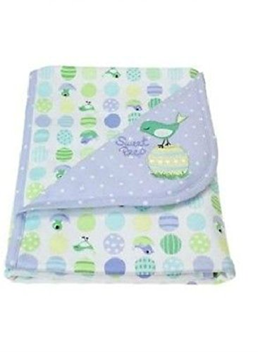 NWT Gymboree 2005 Rare Sweet Peep Blue Green Bird Egg Swaddling Nursery Blanket Baby (Retired - Rare)
