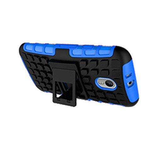 Motorola Moto G3 Funda,COOLKE Duro resistente Choque Heavy Duty Case Hybrid Outdoor Cover case Bumper protección Funda Para Motorola Moto G3 - púrpura Azul