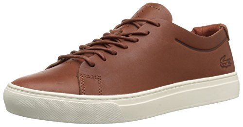 Lacoste Heren L.12.12 Ongevoerde Sneakers Dktan / Off Leather