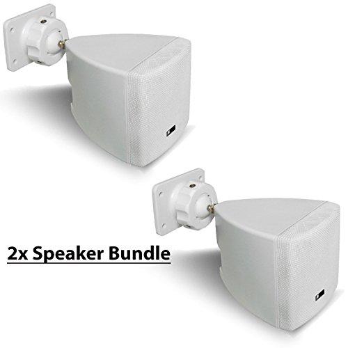 (Pure Acoustics HT770 WH Mini Cube Speaker (White) (2 Pack))
