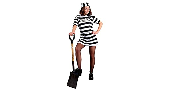 Amazon.com: Morris Costumes Womens Stripped Convict ...