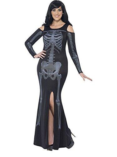 Smiffys Women's Skeleton Costume, Dress, Legends of Evil, Halloween, Plus Size 18-20, -