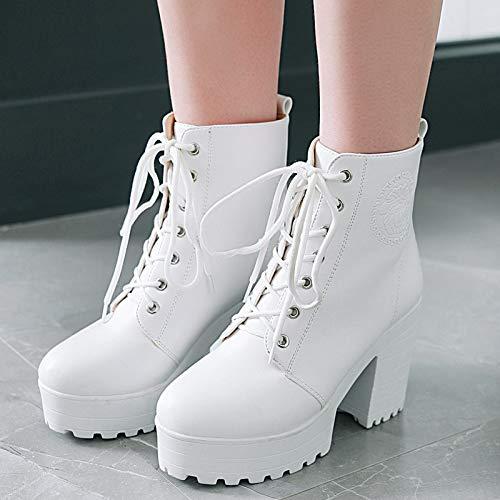Gran Phy Mujer Botas Tacón Martin En De Blanco Unidos Alto Plataforma Invierno Zapatos Los Y Europa Tamaño Otoño Shoe Impermeable E Estados gxqrwISg
