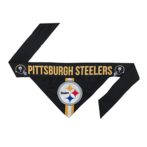 Jersey Dog Pittsburgh - NFL Pittsburgh Steelers Pet Bandanna, Small