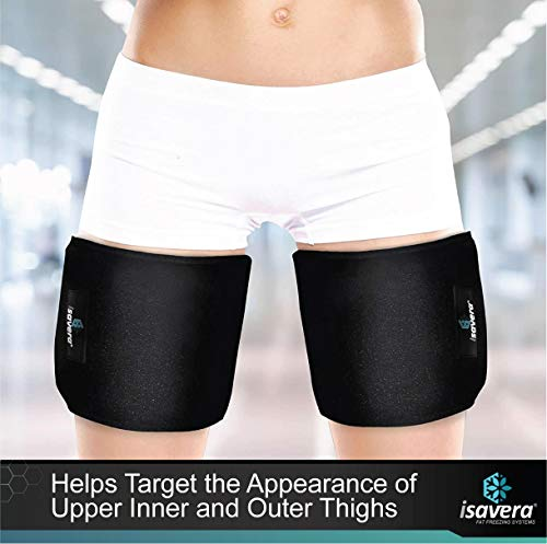 Isavera Thigh Fat Freezing System | Legs Toner / Shaper for Women & Men | Helps Lose Appearance of Thigh Fat