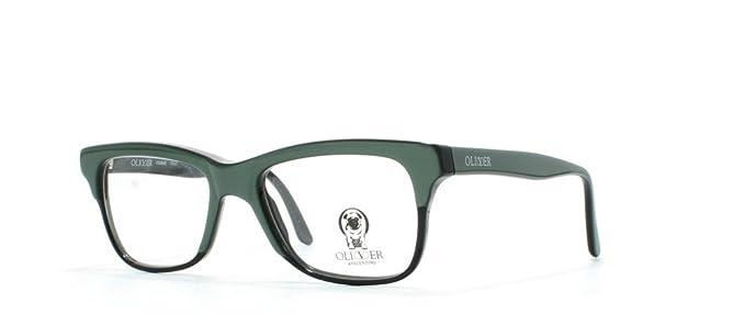 Oliver 1055 459 Green Black Square Certified Vintage Eyeglasses ...