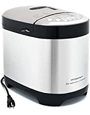 KITCHENARM 29-in-1 Smart Bread Machine with Gluten Free Setting 2LB 1.5LB 1LB Bread Maker Machine with Homemade Cycle - Stainless Steel Breadmaker with Recipes Whole Wheat Bread Making Machine