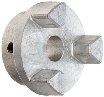 Lovejoy 10253 Size AL050 Jaw Coupling Hub, Aluminum, Inch, 0.313'' Bore, 1.08'' OD, 0.62'' Length Through Bore, No Keyway