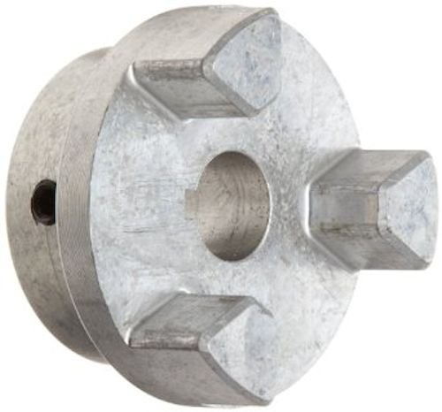 Lovejoy 17924 Size AL100 Jaw Coupling Hub, Aluminum, Inch, 1'' Bore, 2.53'' OD, 1.37'' Length Through Bore, 0.25'' x 0.125'' Keyway (Light 0.125')