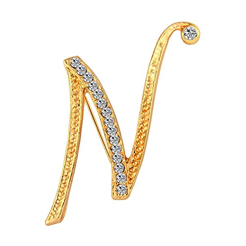 dds5391 1 Pc Fashion Unisex Rhinestone English Letters Alphabet A-Z Brooch Pin Ornament