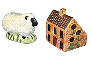 House & Sunflower Salt & Pepper Shakers