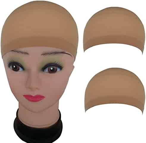 45330889b0a 2 Pack Wig Caps Hair Mesh Wig Cap Hair Nets Wig Stretchable Elastic Hair  Net (