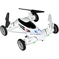 Night lions Tech (TM) Huatai Toys X25 Flying Quadcopter Car Auto Return 24.GHz Remote Control Car and Quadcopter Drone