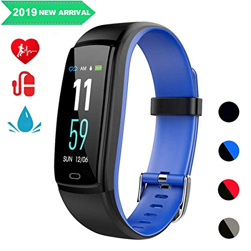 Mgaolo Fitness Tracker,Smart Watch Activity Tracker Sports Band Bracelet Waterproof Bluetooth Wristband with Heart Rate Monitor Pedometer Sleep Monitor Calorie Step Counter Blood Pressure Blue