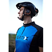 Vertix Velo Cycling Intercom (2 units) with Wireless Remote Control and Road Bike Headphones