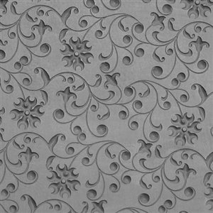 (Cool Tools - Flexible Texture Tile - Floral Curls Embossed - 4