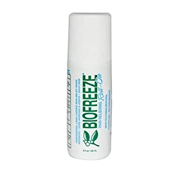 Biofreeze Pain Relief Gel, 3 oz. Roll-on Original Green Formula, Pain Reliever